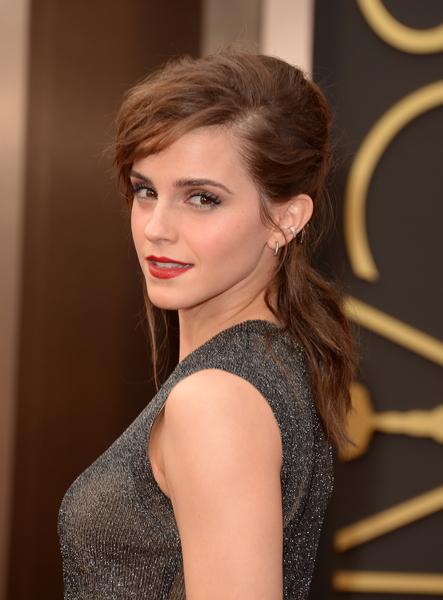 2014年3月2日,艾瑪•沃森出席奧斯卡頒獎禮。(Jason Merritt/Getty Images)