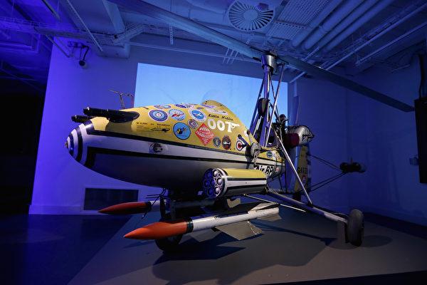 肖恩·康纳利在《雷霆谷》中驾驶的全副武装旋翼机。(Chris Jackson/Getty Images for London Film Museum)