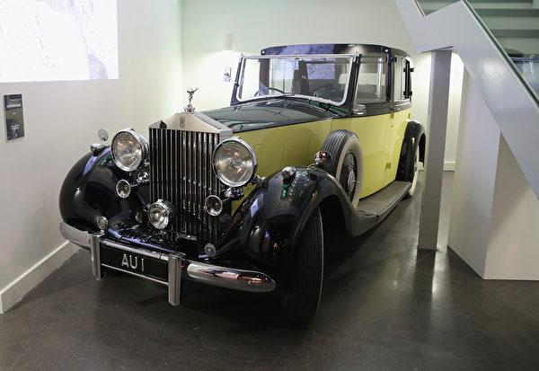 《金手指》中的1937年版Rolls-Royce Phantom III。(Chris Jackson/Getty Images for London Film Museum)
