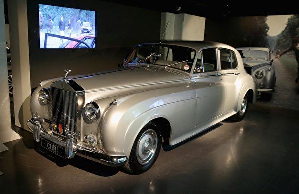 《雷霆殺機》中的1962年版Rolls-Royce Silver Cloud II。(Chris Jackson/Getty Images for London Film Museum)