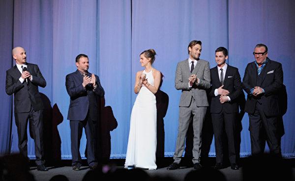 2014年3月31日,《诺亚方舟》主创人员出席伦敦首映礼。(Dave J Hogan/Getty Images for Paramount Pictures International)