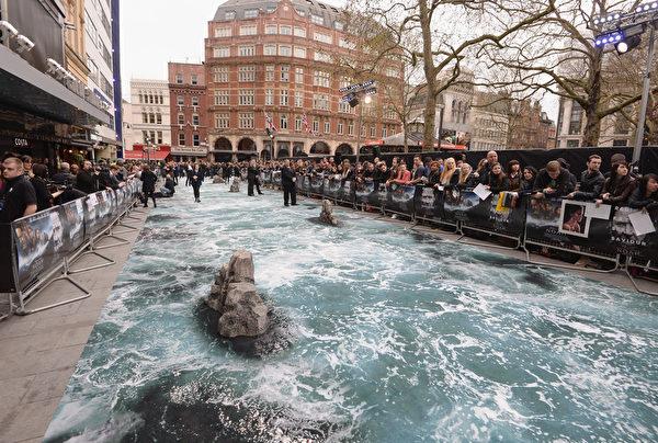 2014年3月31日《诺亚方舟》伦敦首映礼布景。(Dave J Hogan/Getty Images for Paramount Pictures International)