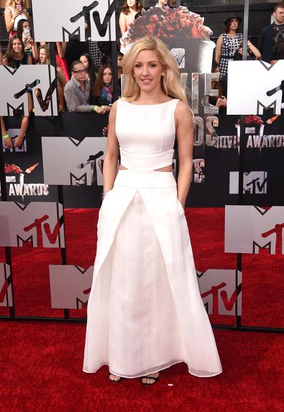 2014年4月13日,演唱嘉宾艾丽•古尔丁出席MTV电影奖颁奖典礼。(Jason Merritt/Getty Images for MTV)