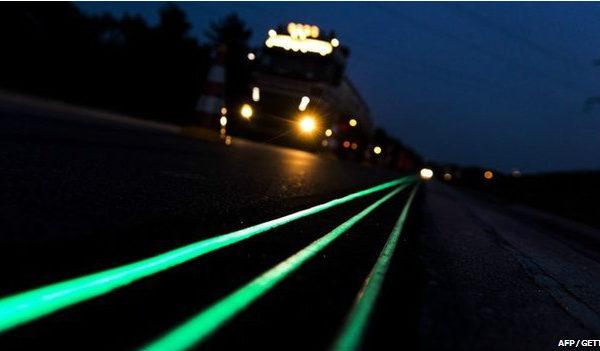 荷兰试验用新涂料让公路在黑暗中发光