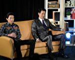 李國毅與樓學賢(右)這對劇中父子總是針鋒相對。(三立提供)