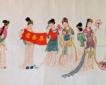 中华传统画家章翠英作品。 (作者提供)