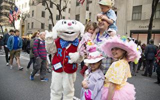 组图:纽约复活节游行帽子争艳第五大道