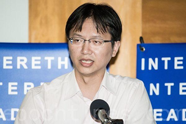 台湾国际器官移植关怀协会副理事长黄士维。(陈柏州 /大纪元)