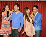 《我的自由年代》演員任容萱(左起)、李國毅、是元介、翁滋蔓。(三立提供)