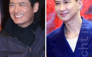 周润发(左)与张家辉(右)两大经典赌神同台斗戏。(大纪元合成图)