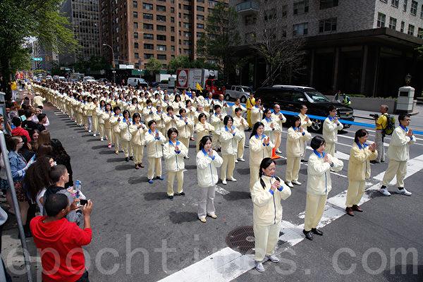 紐約法輪功大遊行震撼旅美華人 當場三退
