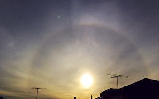 組圖:悉尼18日清晨的日暈