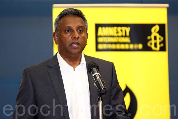 國際特赦秘書長謝迪(Salil Shetty)訪港三日,傳達國際對「六.四」的關注。(潘在殊/大紀元)