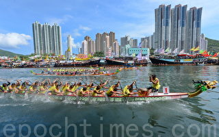 組圖:香港端午賽龍舟 大澳遊涌承百年傳統