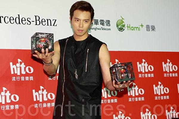 Hito網路首播人氣獎:黃鴻升。(許基東/大紀元)