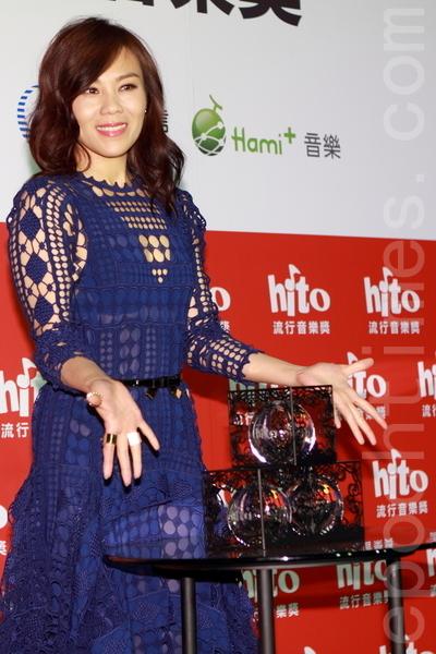 Hito製作人+年度十大華語歌曲+海外歌手-新加坡:蔡健雅。(許基東/大紀元)
