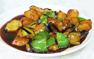 「一味華人餐廳」的地三鮮。(全宇/大紀元)