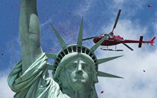 組圖:紐約自由島紀念諾曼底登陸70週年