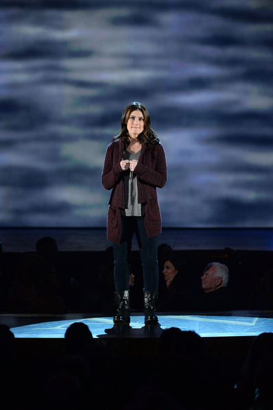 入围最佳音乐剧女主角的伊迪娜•门泽尔演唱《假如/那么》片段。(Theo Wargo/Getty Images for Tony Awards Productions)