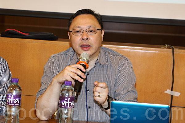 佔中發起人之一戴耀廷認為前新華社香港分社社長周南的言論是意圖打壓622全民投票和七一遊行人數。(蔡雯文/大紀元)