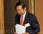 港澳办前副主任陈佐洱在6月20日现身香港,自圆其说解释白皮书未收紧香港自治权。(潘在殊/大纪元)