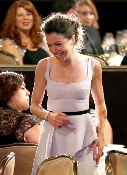 最佳剧情剧女演员:塔提阿娜•玛斯拉尼(《黑色孤儿》)。(Christopher Polk/Getty Images for Critics' Choice Television Awards)