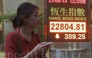 622公投次日 香港股市反常急跌389点