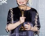 彭国华获得第25届金曲奖的特别贡献奖,由遗孀张小燕出席领奖。(许基东/大纪元)