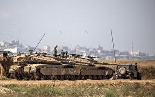 以色列在加沙边境布阵 空袭巴解据点