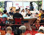 """民主党主席刘慧卿出席《城市论坛》节目时称,党内会讨论准备""""占中""""。(潘在殊/大纪元)"""