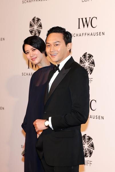 張智霖與太太袁詠儀(Lintao Zhang/Getty Images for IWC)