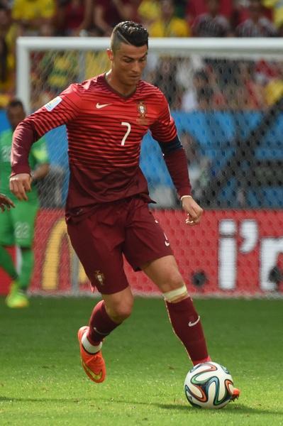 C罗(Cristiano Ronaldo)。(CHRISTOPHE SIMON/AFP/Getty Images)