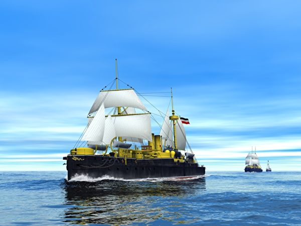 北洋艦隊揚帆大西洋。(暖暖書屋提供)