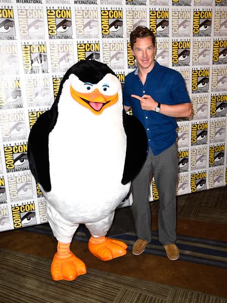 2014年7月24日,演员本尼迪克特.康伯巴奇出席梦工厂动画宣传活动。(Frazer Harrison/Getty Images)