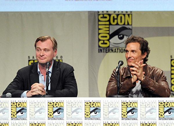 《星际迷航》导演克里斯托弗·诺兰与主演马修·麦康瑙希(Kevin Winter/Getty Images)