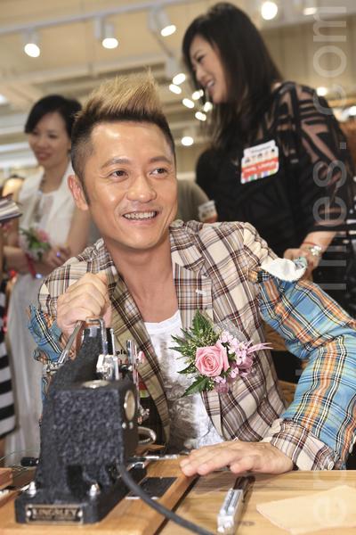 艺人苏志威昨日现身活动。(余钢/大纪元)