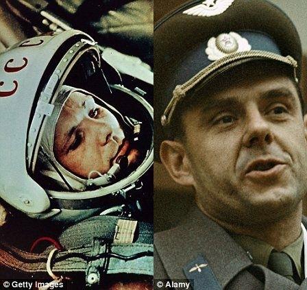 苏联太空英雄尤里.加加林(左)和不幸的宇航员弗拉迪米尔.科马洛夫被指派执行1967年那项注定会失败的飞行任务 (Getty Image)