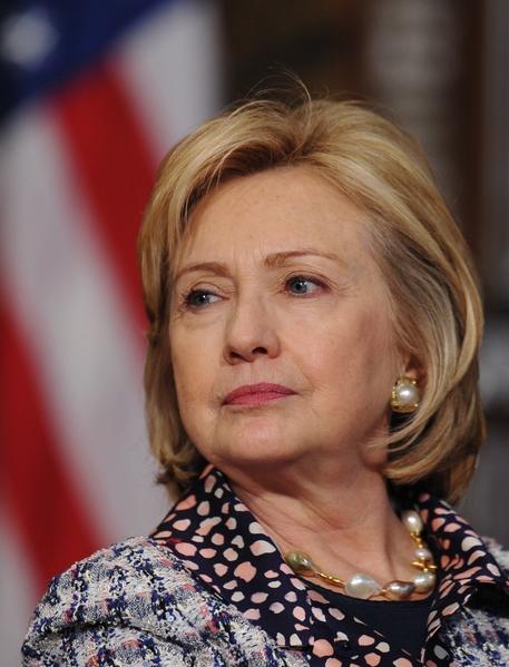 希拉莉.克林頓(Hillary Clinton)曾任美國國務卿、聯邦參議員(代表紐約州),美國第一夫人(1993年-2001年)。(MANDEL NGAN/AFP)