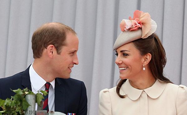 2014年8月4日,威廉王子和凱特王妃在比利時東部城市列日出席一戰百年紀念活動。(Chris Jackson/Getty Images)