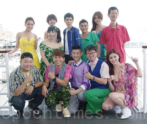 电影《大宅门》于8月5日在新北市淡水老街的渡船头上举行记者发布会。(黄宗茂/大纪元)