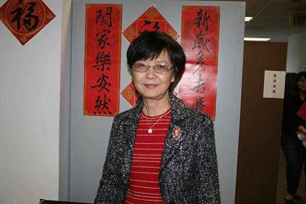 图︰资深地产专家安琪拉‧王(Angela Wang)对华裔新移民提供了不少购屋置产的好建议。﹙袁玫/大纪元﹚