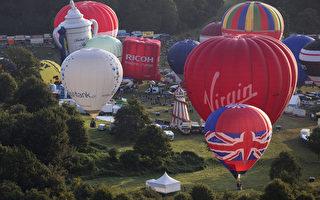 組圖:歐洲熱氣球節 英國小鎮熱鬧登場