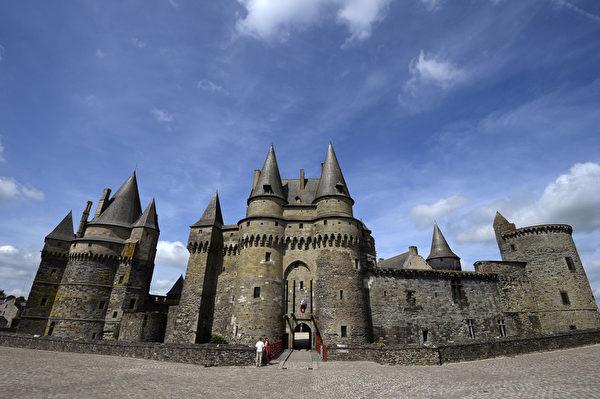 法國布列塔尼區維特雷(Vitre)城堡(MIGUEL MEDINA/AFP)
