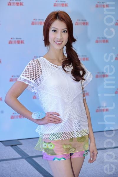 2014香港小姐候选佳丽谢芷伦。(宋祥龙/大纪元)