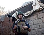 近2年前在叙利亚遭绑架的美国记者詹姆斯·福利被伊斯兰国ISIS的激进份子斩首。图为詹姆斯·福利2012年11月5日的档案照片。(NICOLE TUNG/AFP)