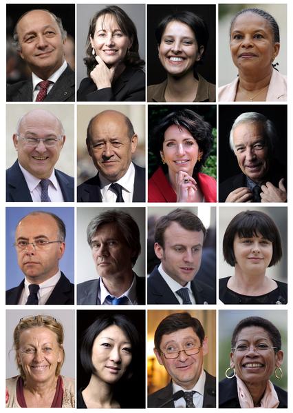 法國總統奧朗德公佈新內閣名單