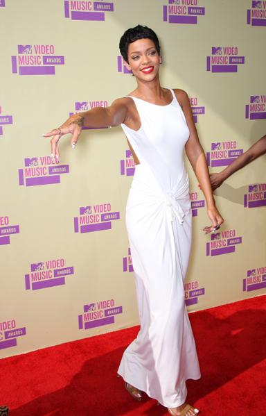 蕾哈娜获得年度最佳音乐录影带。(Photo by Frederick M. Brown/Getty Images)