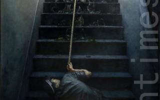 《憾不動的信念》 李犇   油畫 183cm x 102cm   2014