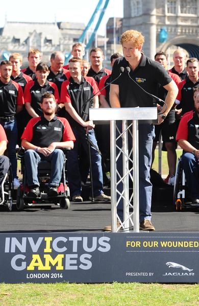 2014年8月13日,哈里王子宣布英國組隊參加不可征服運動會。(Stuart C. Wilson/Getty Images for Invictus Games)
