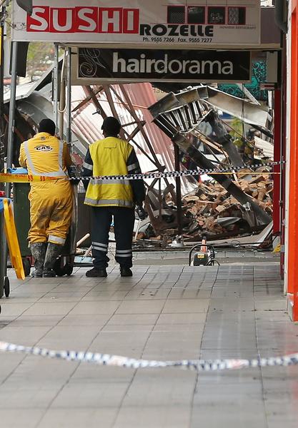 悉尼內西區羅澤爾大火現場。(Photo by Mark Metcalfe/Getty Images)